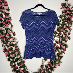 New York & company blue Womens Blouse Large